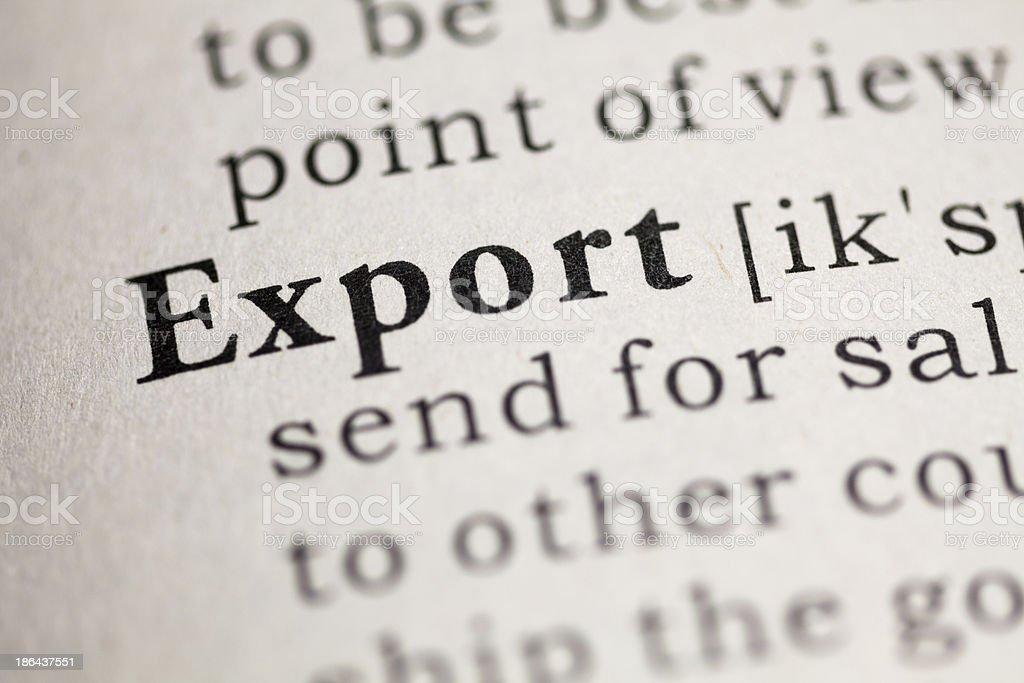 Export royalty-free stock photo