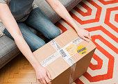GLS Export unboxing parcel