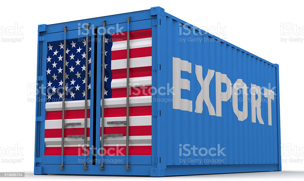 Exports of the United States of America stock photo