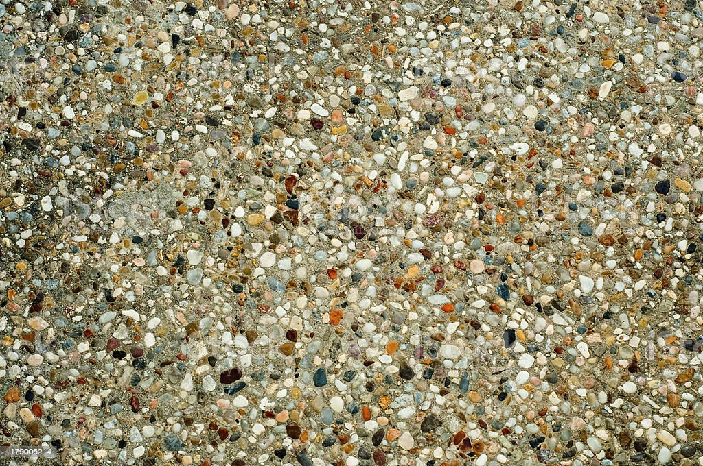 Exposed aggregate finish royalty-free stock photo