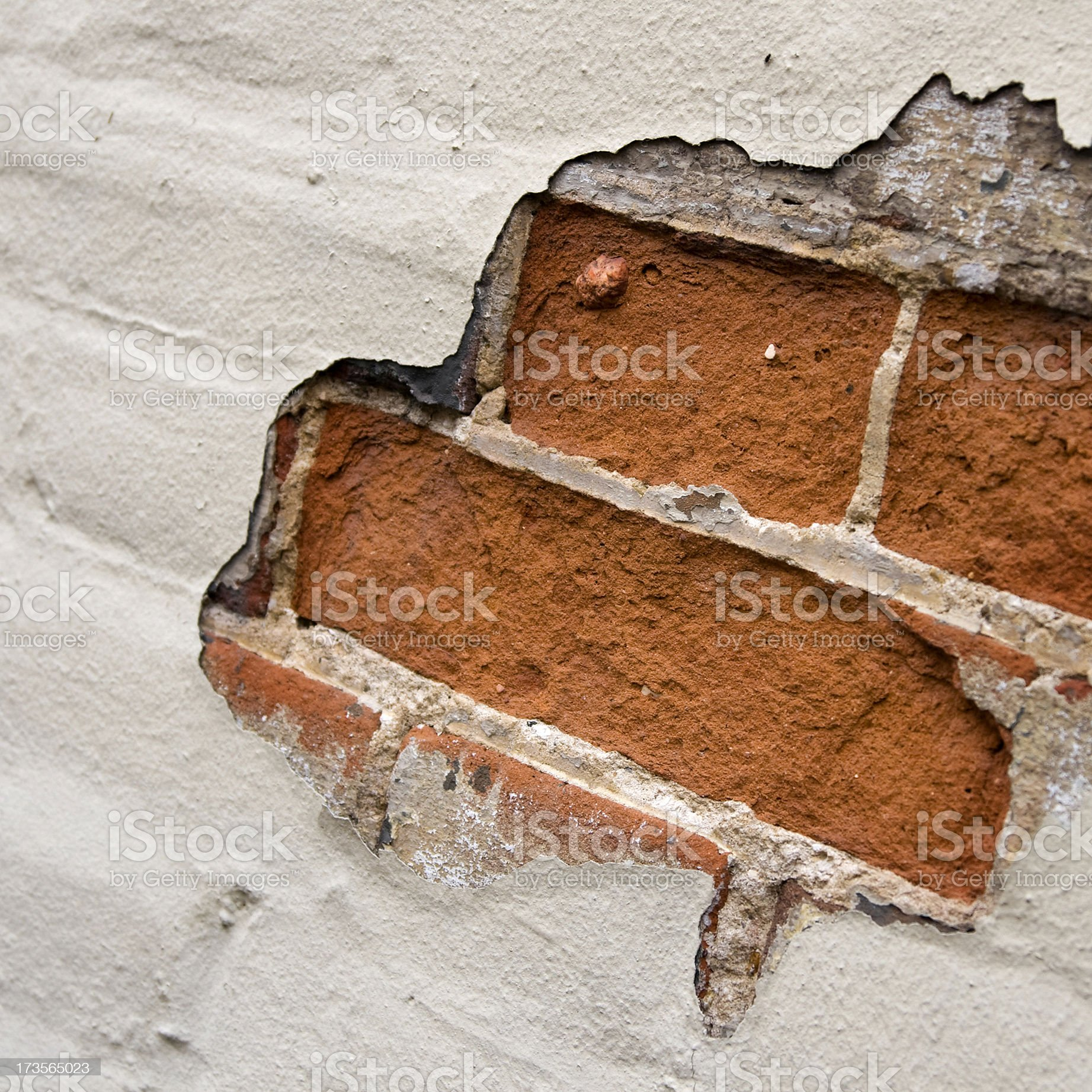 Exposed brickwork royalty-free stock photo