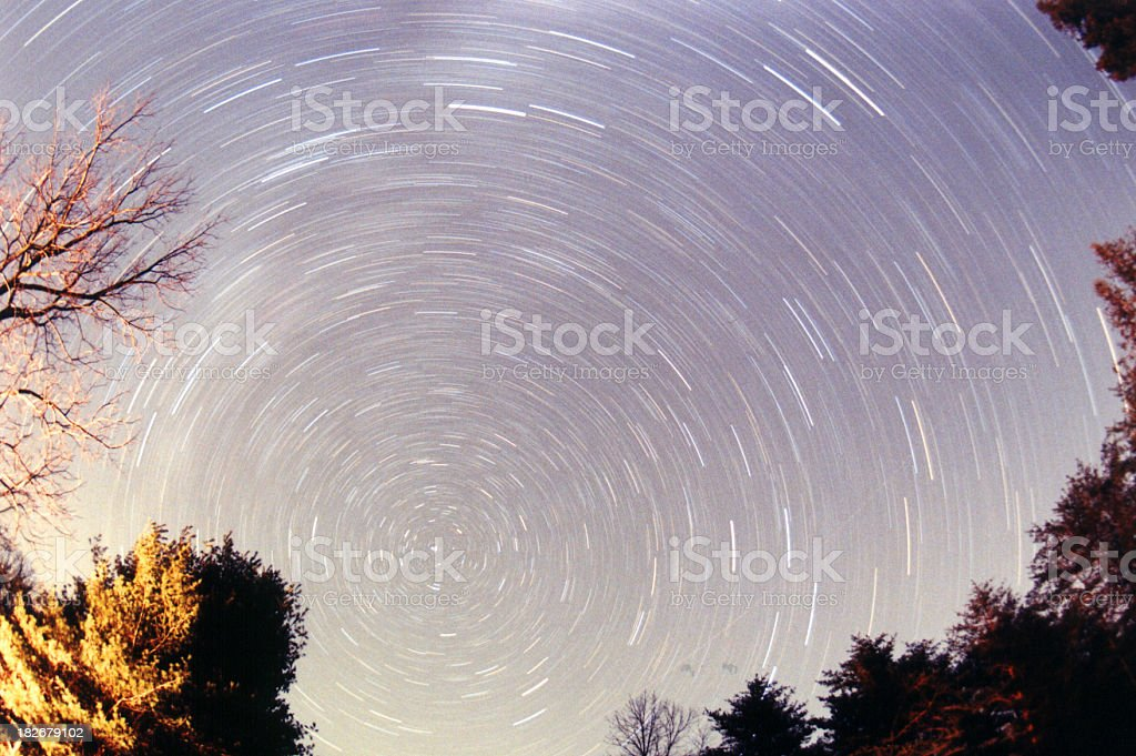 exposure, 30 minute North Star royalty-free stock photo