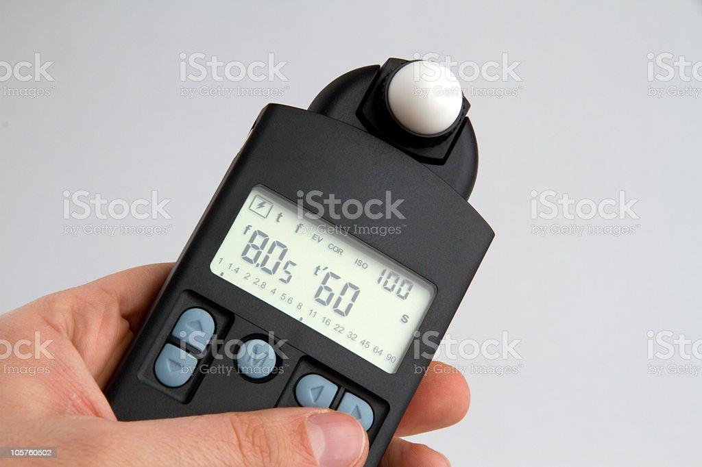 Exposure Meter stock photo