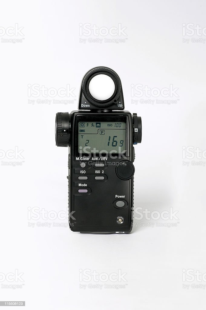 HR Exposure meter (with Clipping Path) royalty-free stock photo