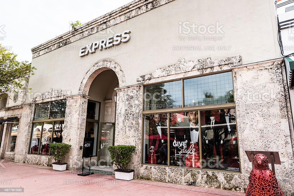 Express Clothing Store stock photo
