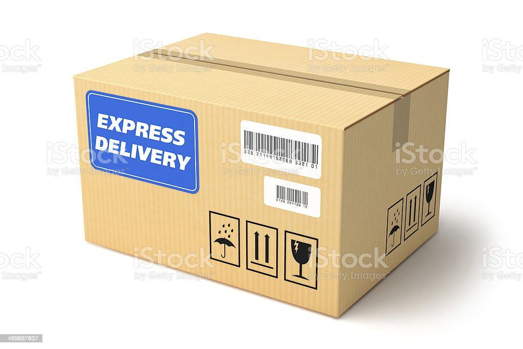 Express Delivery package royalty-free stock photo