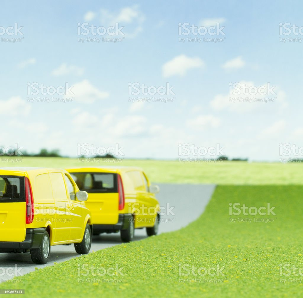 Express Delivery Vans royalty-free stock photo