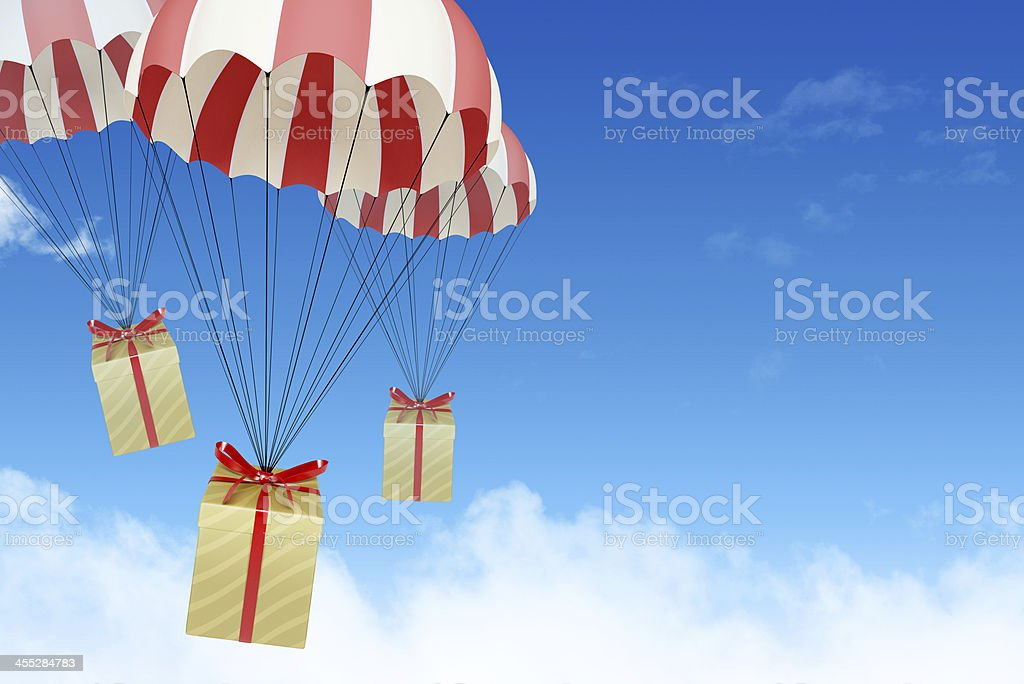 Express present delivery royalty-free stock photo