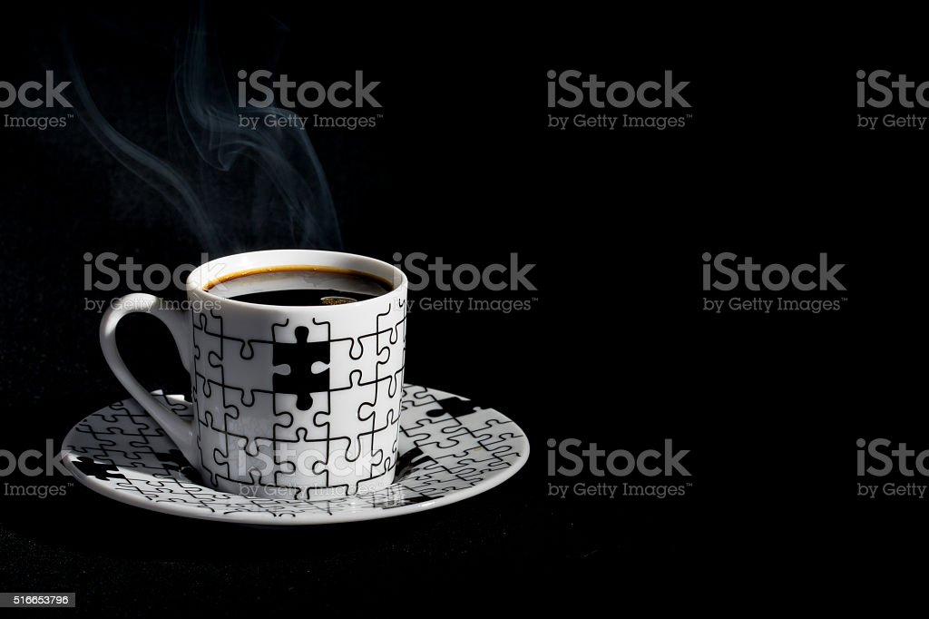 Expresso Puzzle Cup stock photo