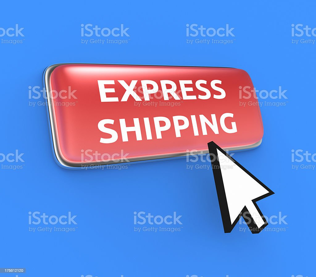 Express Shipping Button XL royalty-free stock photo