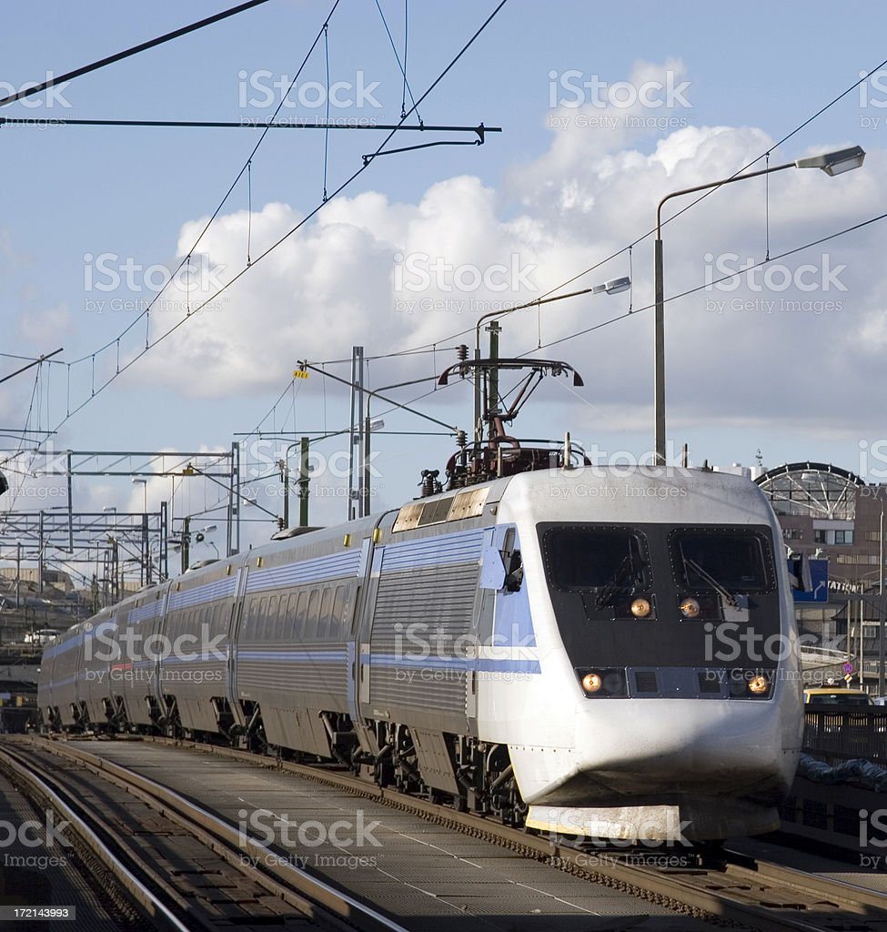 Express train, Stockholm, Sweden royalty-free stock photo