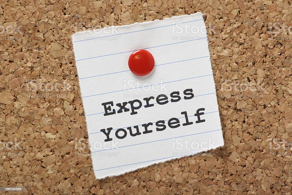 Express Yourself royalty-free stock photo