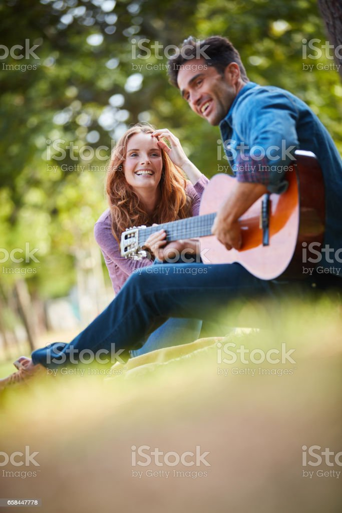 Expressing my love the best way I know how to stock photo