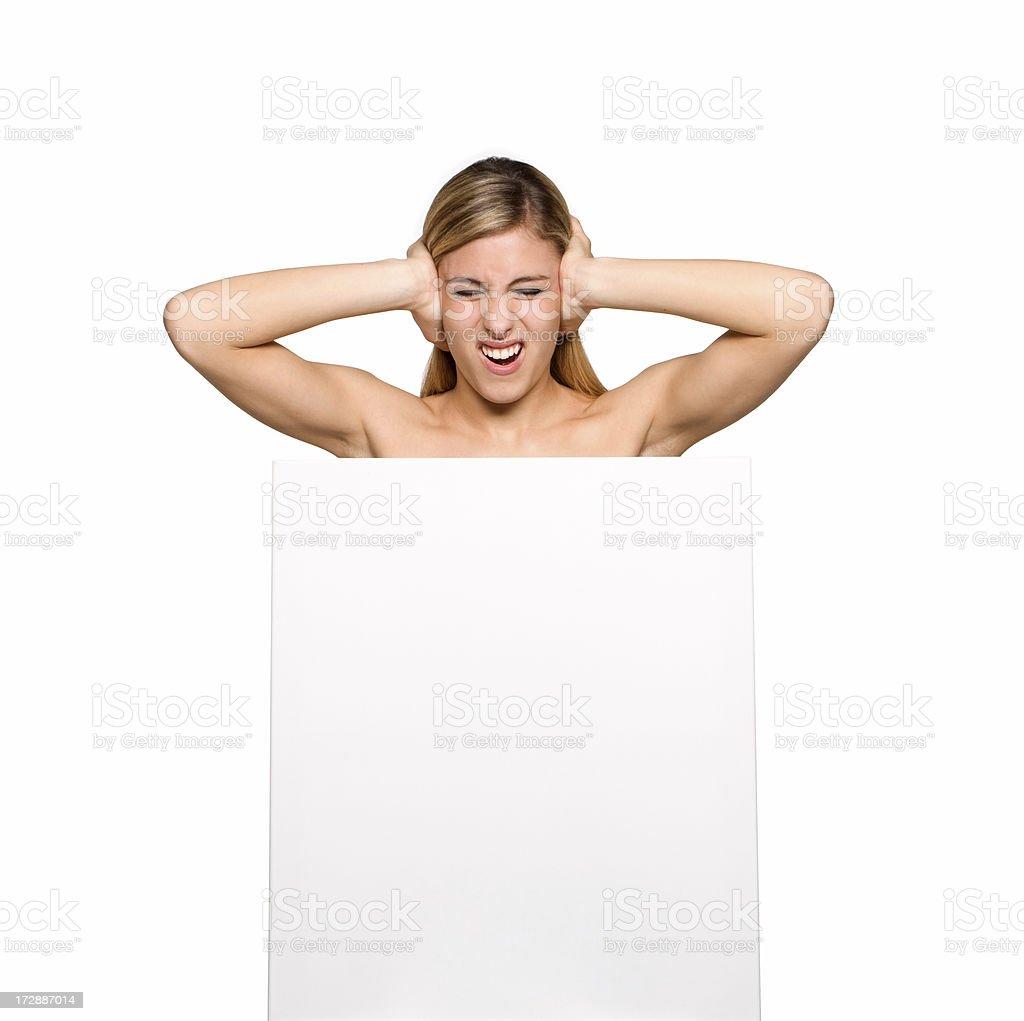 expression, billboard girl royalty-free stock photo