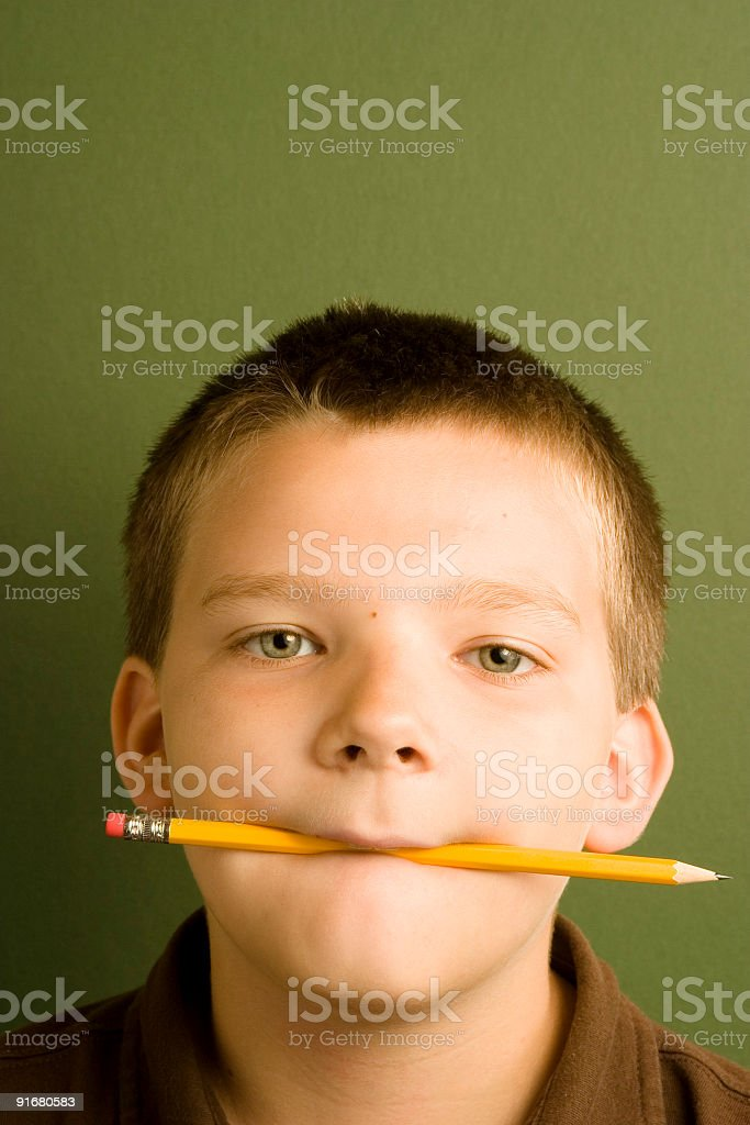 Expression Series - Pencil royalty-free stock photo