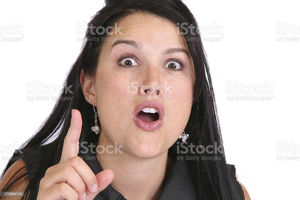 Expression-Gasp royalty-free stock photo