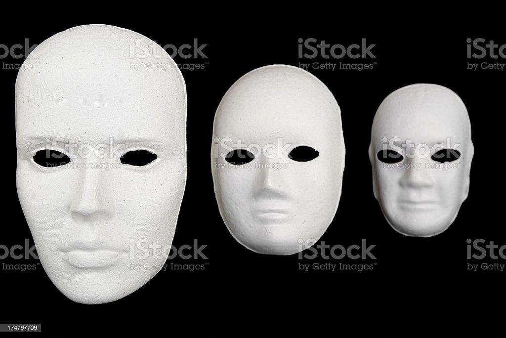 Expressionless Masks stock photo
