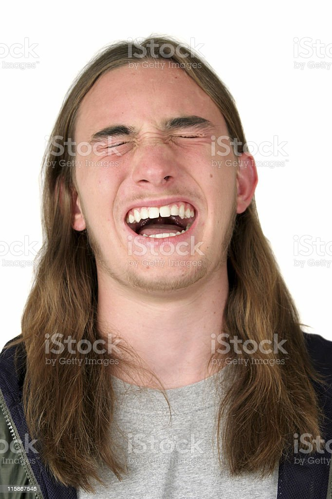 Expressions - Agony or Laughter royalty-free stock photo