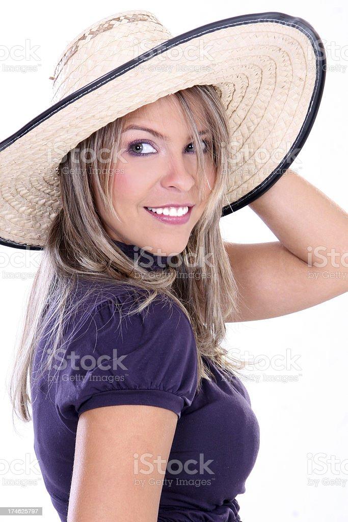 Expresiones de hermosa rubia sonriente - foto de stock