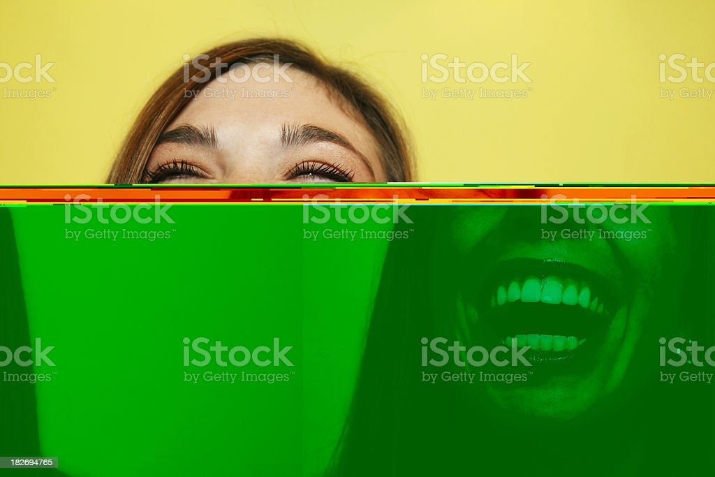 Expressions Laughter stock photo
