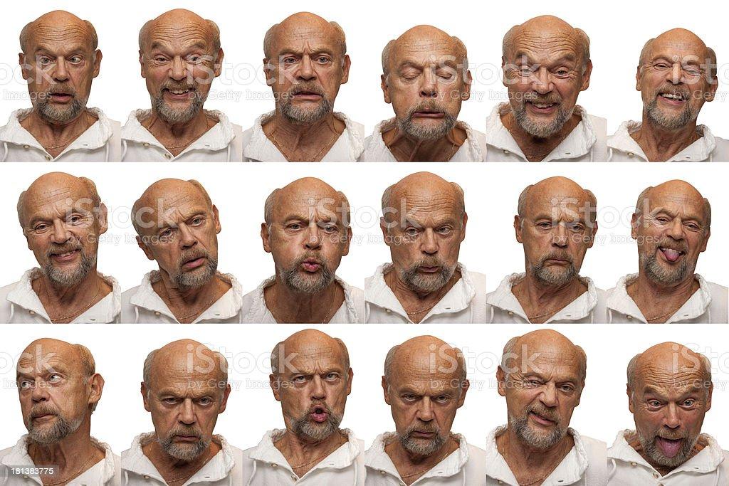 Expressions - Senior Aged Man royalty-free stock photo
