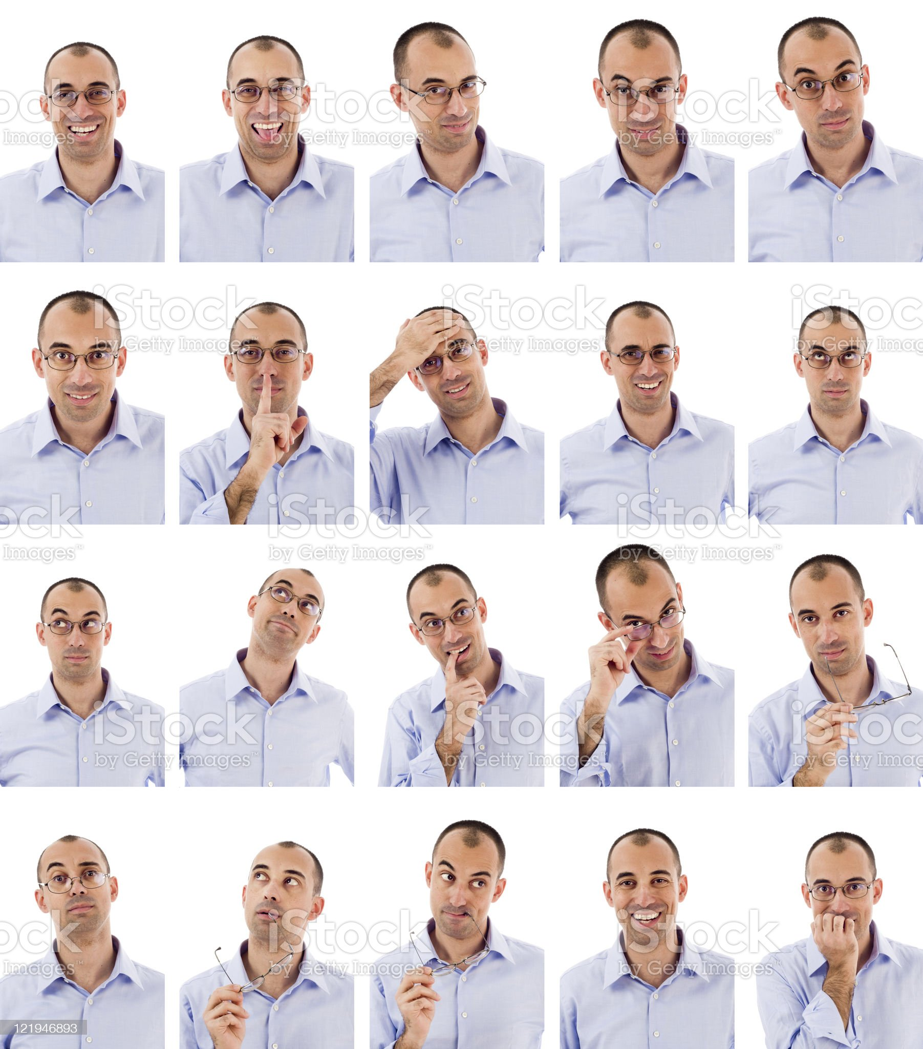 Expressions series royalty-free stock photo