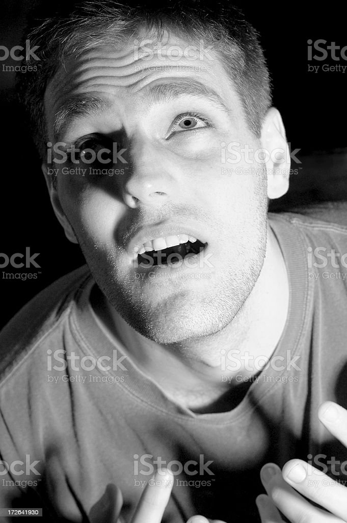 Expressions Series: Terror stock photo