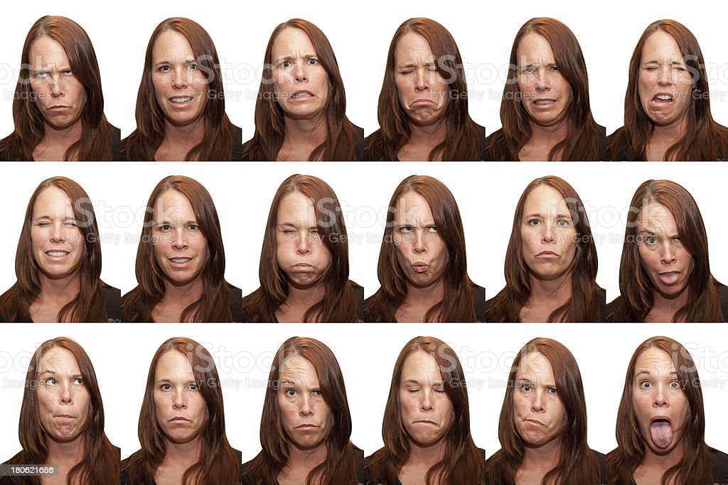 Expressions - Thirty Something Aged Woman royalty-free stock photo
