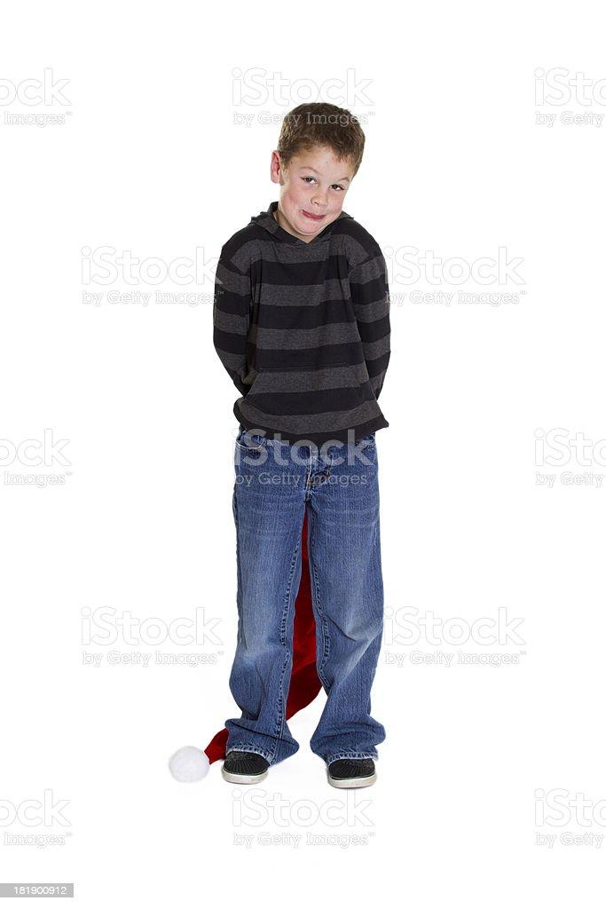 Expressive child against white background royalty-free stock photo