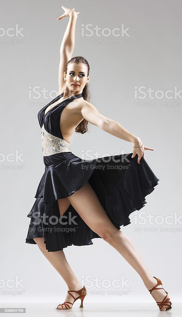 Expressive emotions - provocative young woman. Dance - Stock Image stock photo
