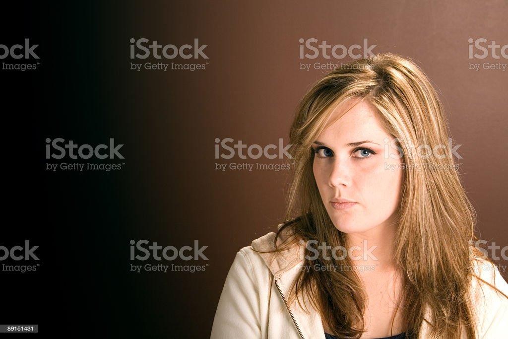 Expressive Eyes Series - Serious royalty-free stock photo