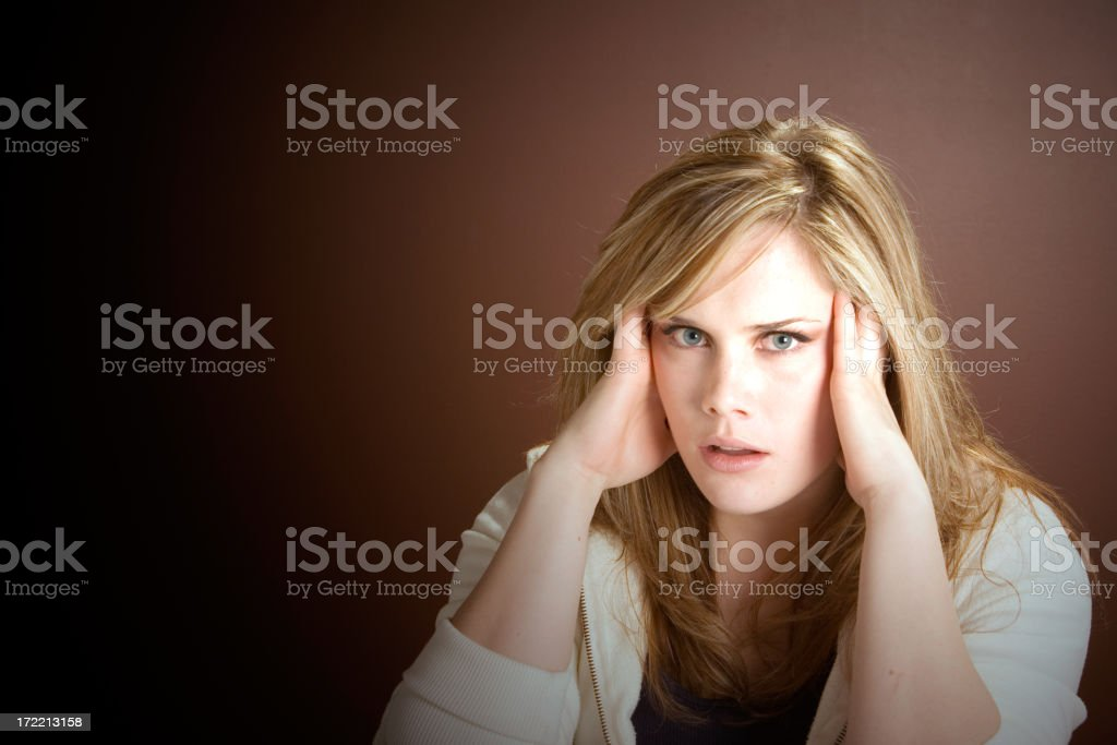 Expressive Eyes Series - Stressed royalty-free stock photo