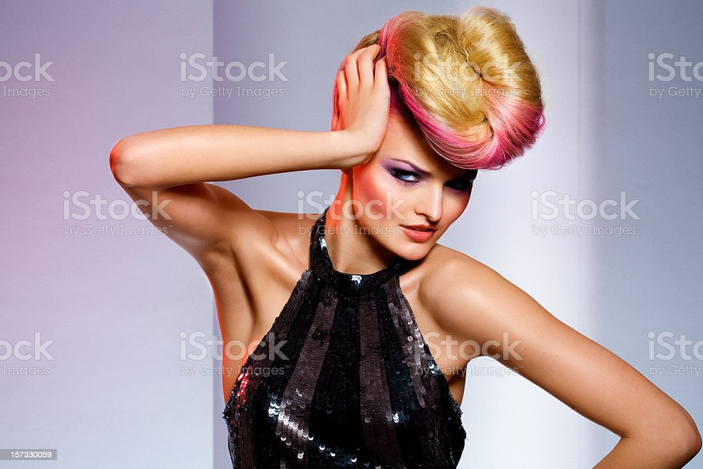 Expressive Coiffure royalty-free stock photo