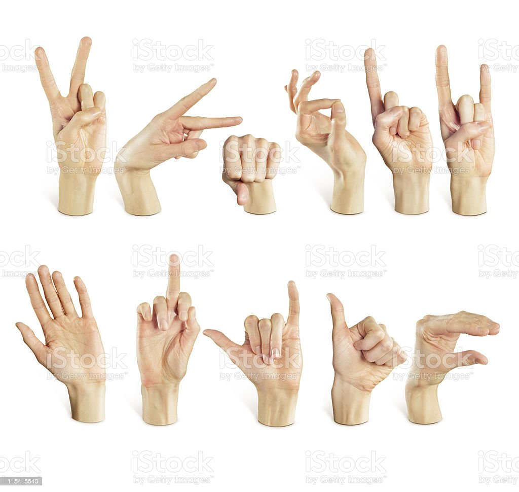 expressive hands royalty-free stock photo