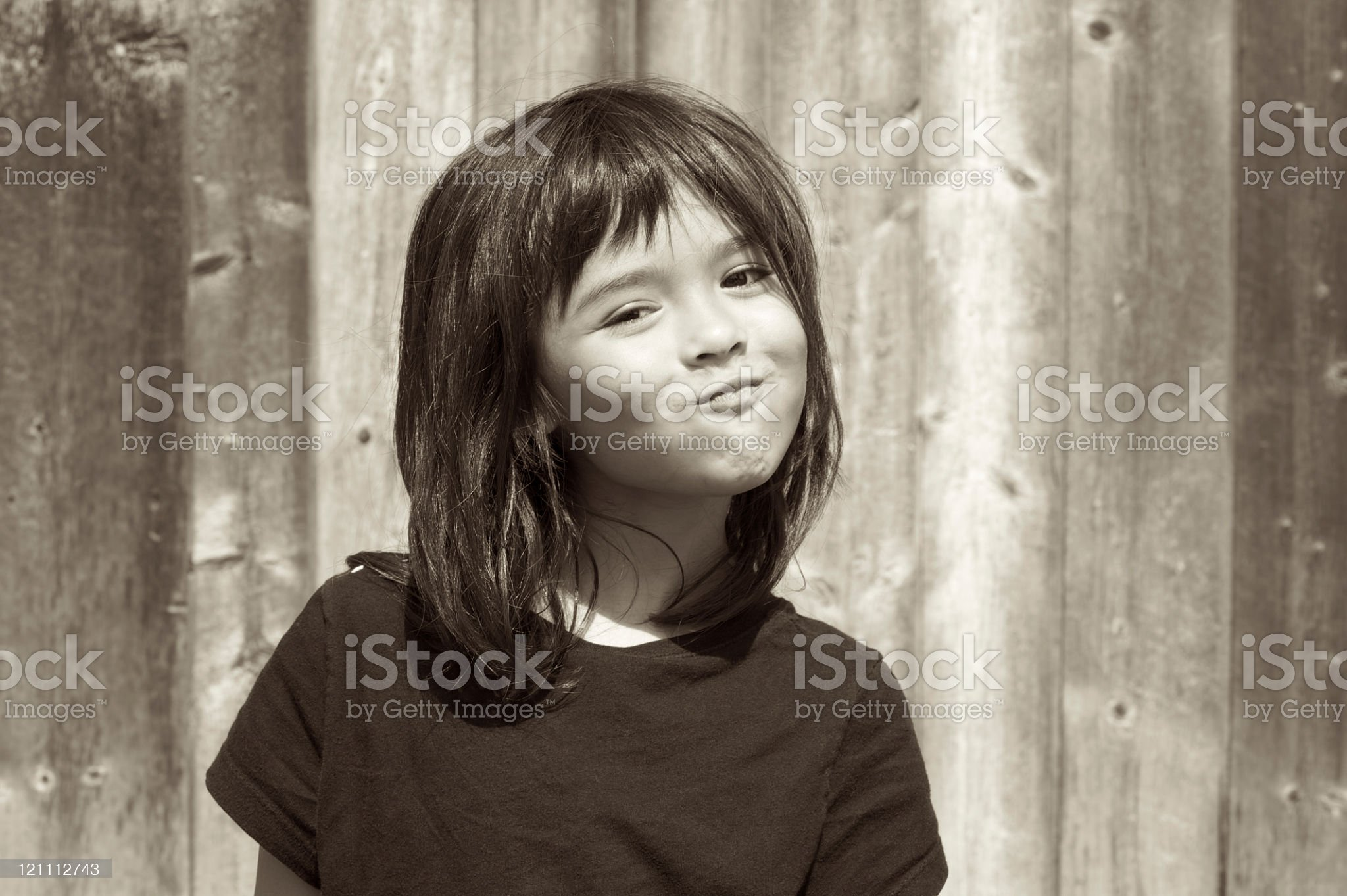 Expressive little girl royalty-free stock photo