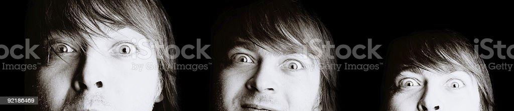 expressive man royalty-free stock photo