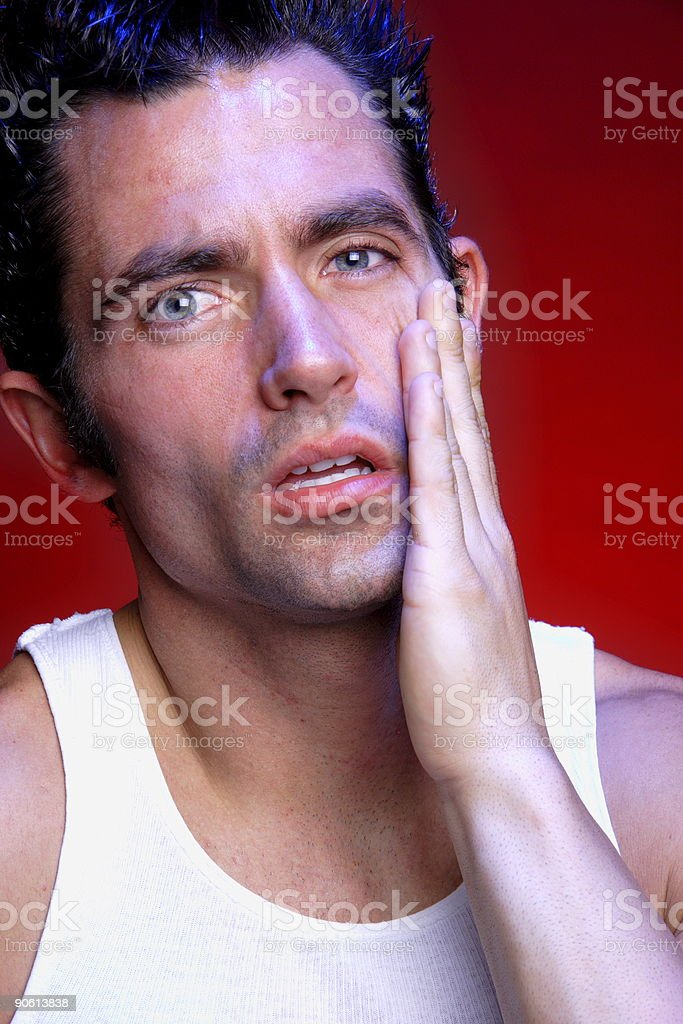 expressive man portrait stock photo