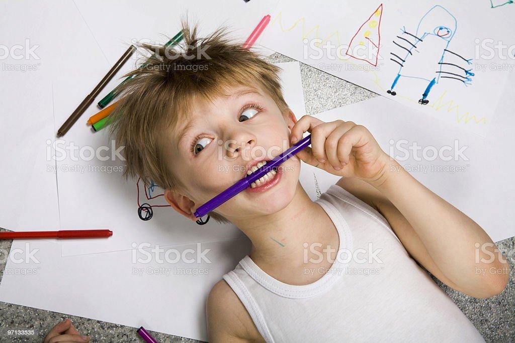 Expressive painter stock photo