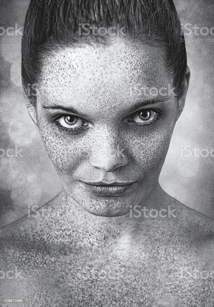 expressive portrait of a girl royalty-free stock photo