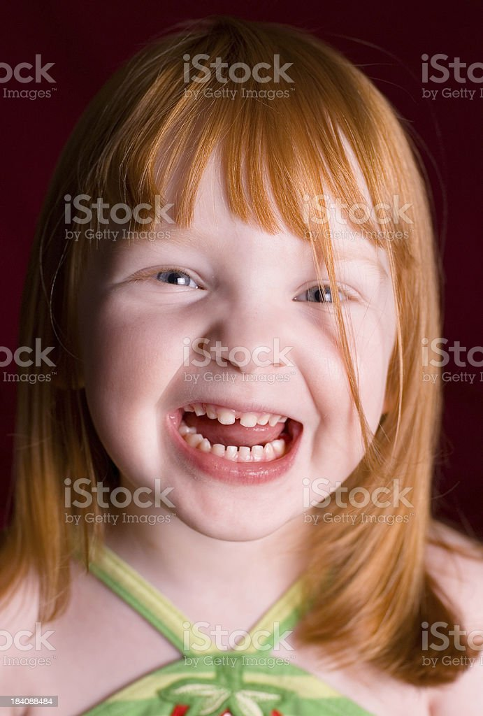Expressive Redhead Child stock photo