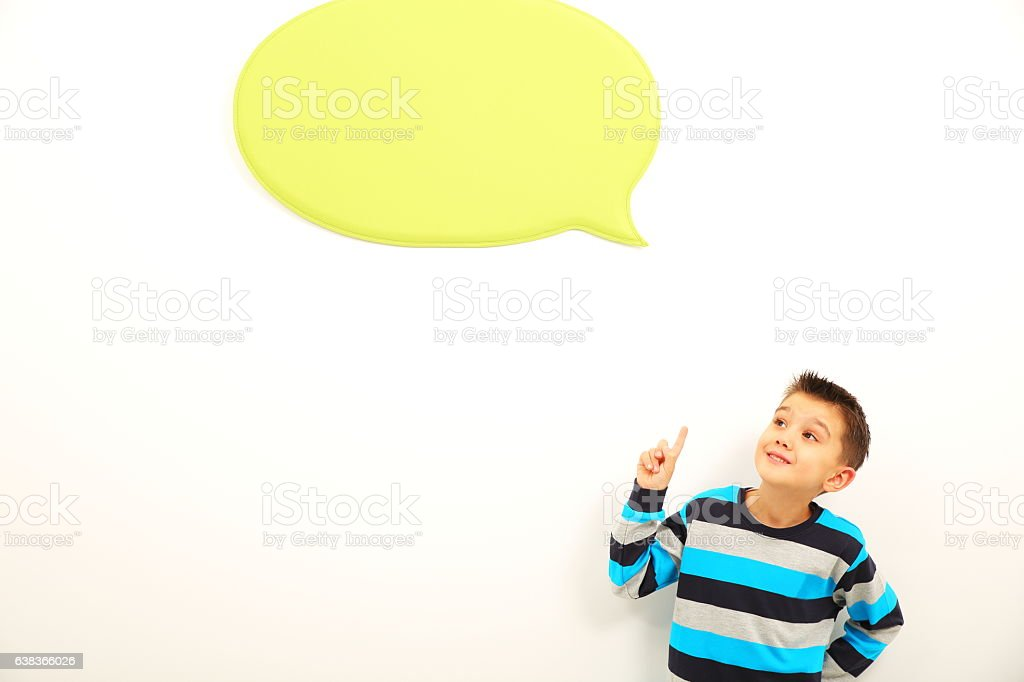 Expressive thinking stock photo