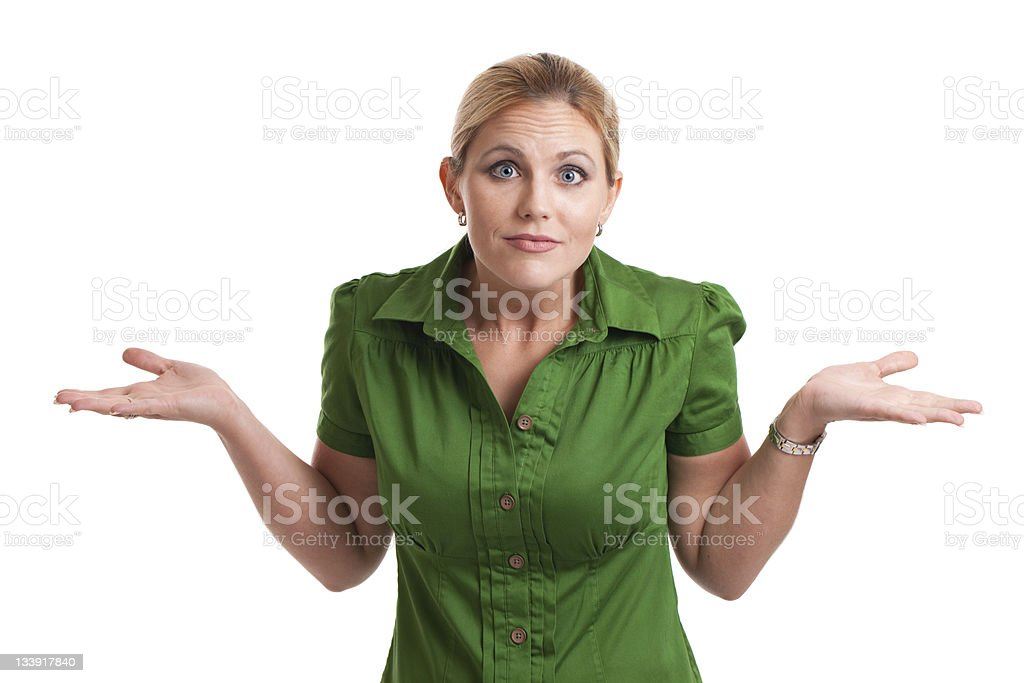 Expressive Woman royalty-free stock photo