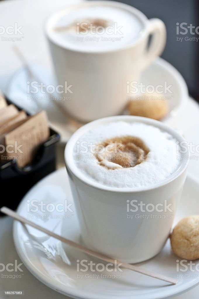 Expresso Coffee at the sidewalk cafe royalty-free stock photo