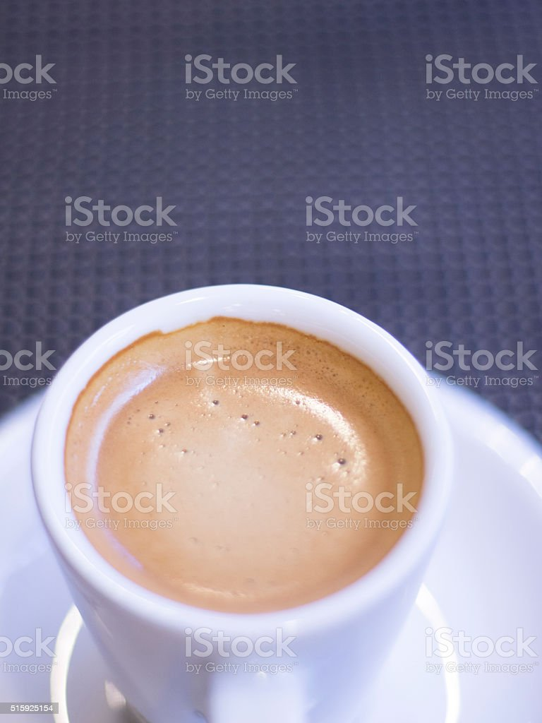 Expresso coffee cup and saucer stock photo