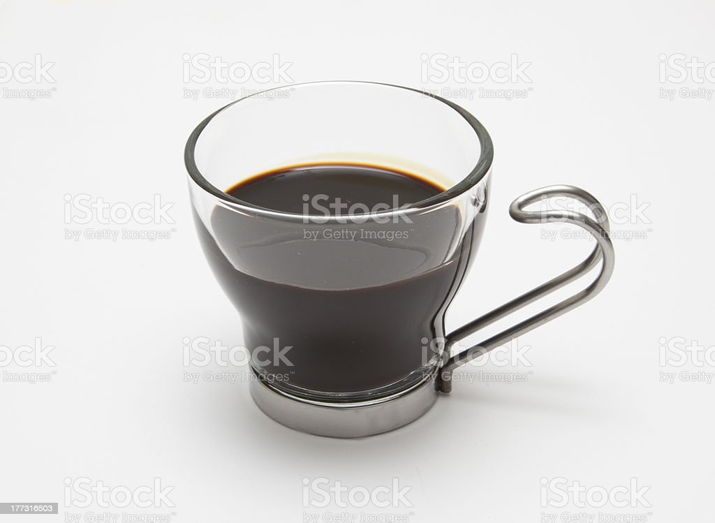 Expresso in Glass Cup stock photo