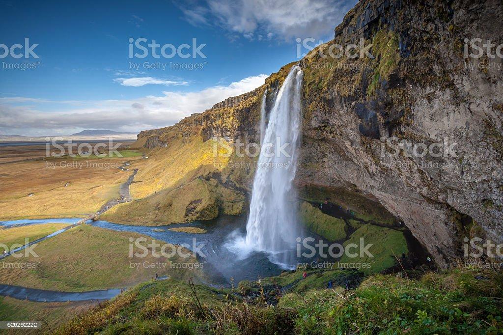 Exquisite Beauty Of Seljalandsfoss stock photo