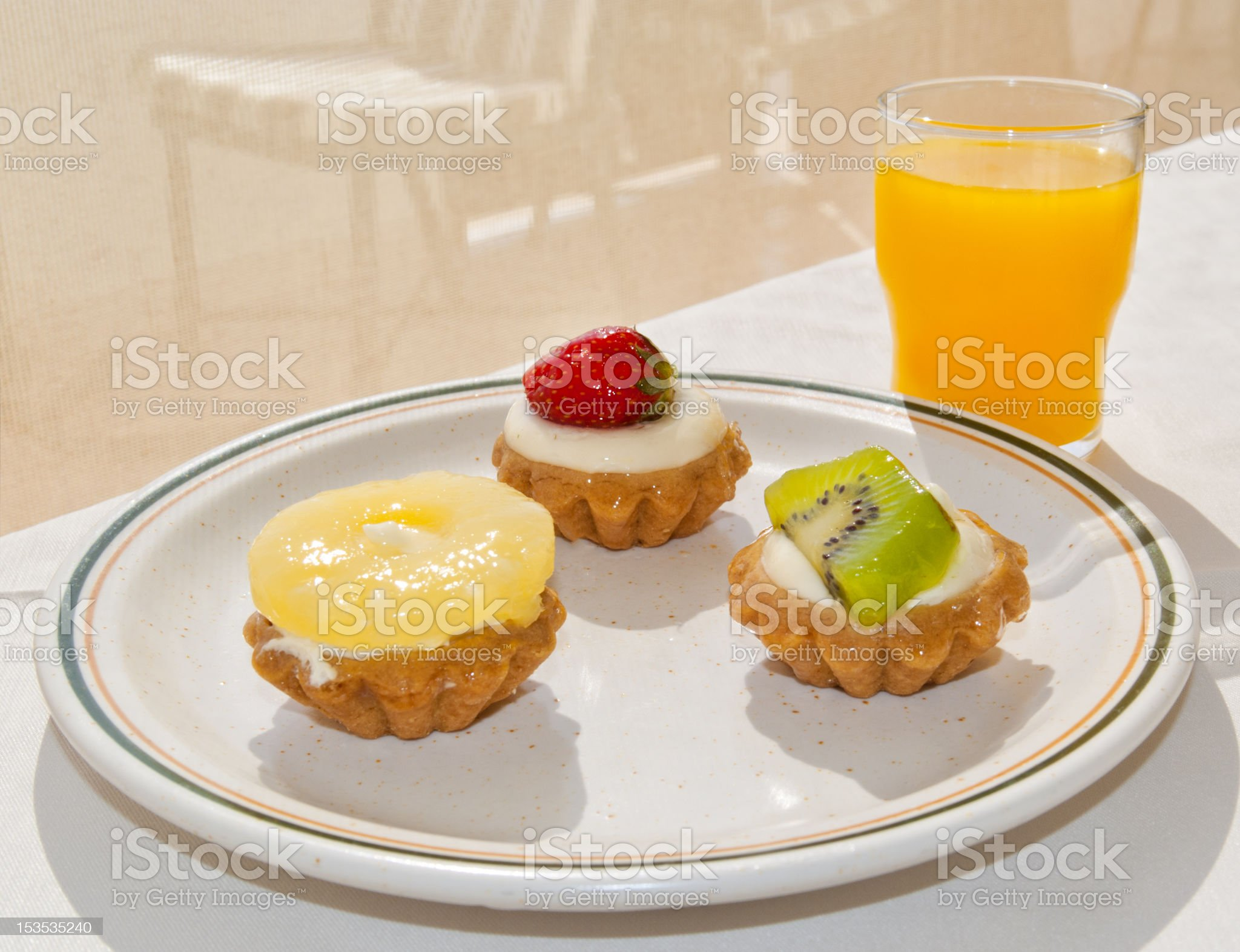 Exquisite breakfast in luxury hotel royalty-free stock photo