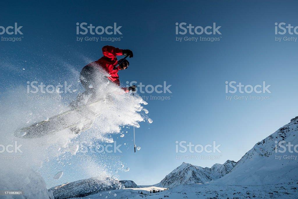 exteme snowshowing royalty-free stock photo