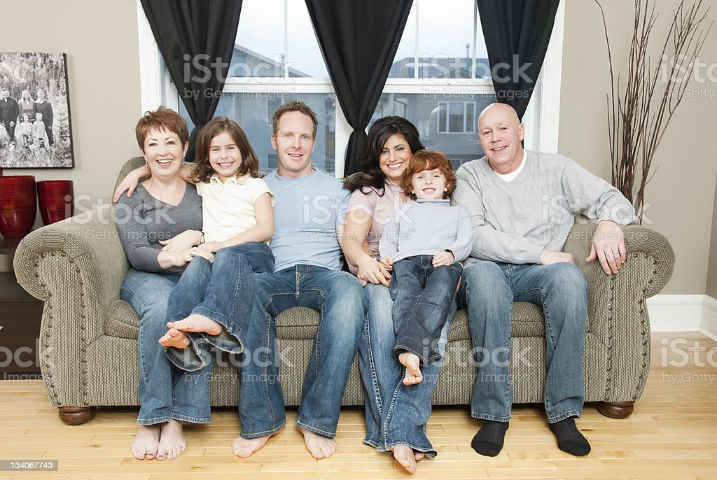 Extended Family at Home royalty-free stock photo