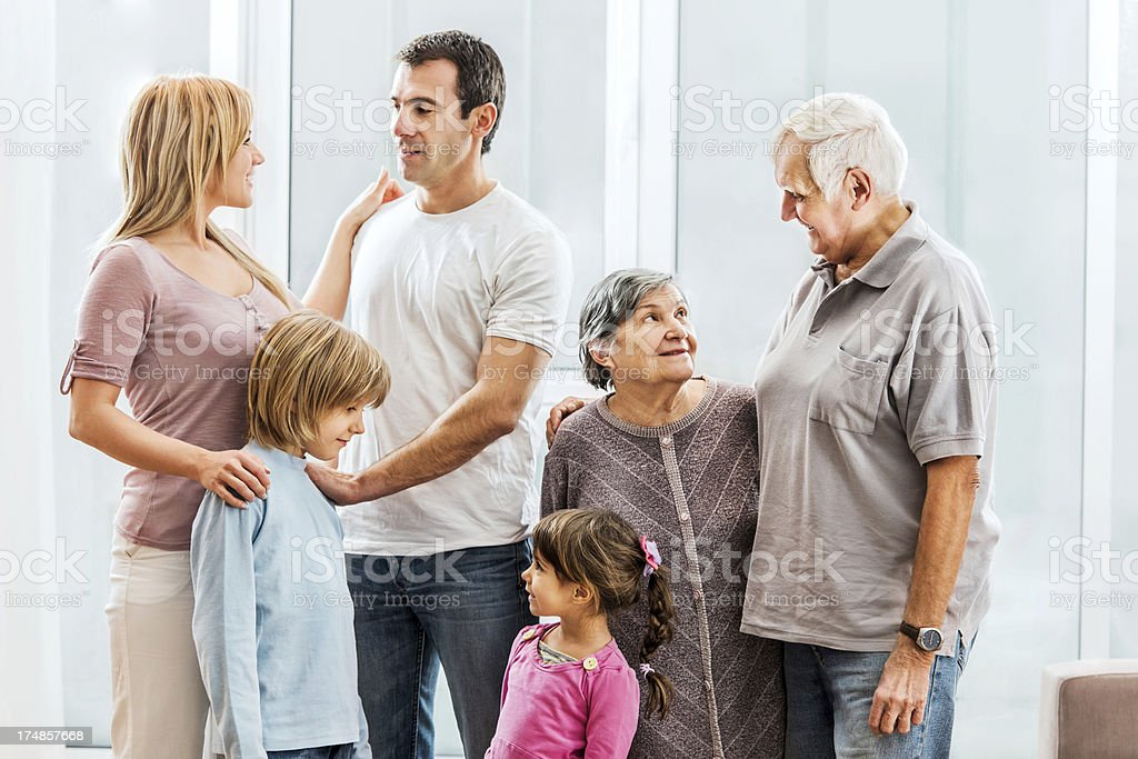 Extended family communicating. royalty-free stock photo